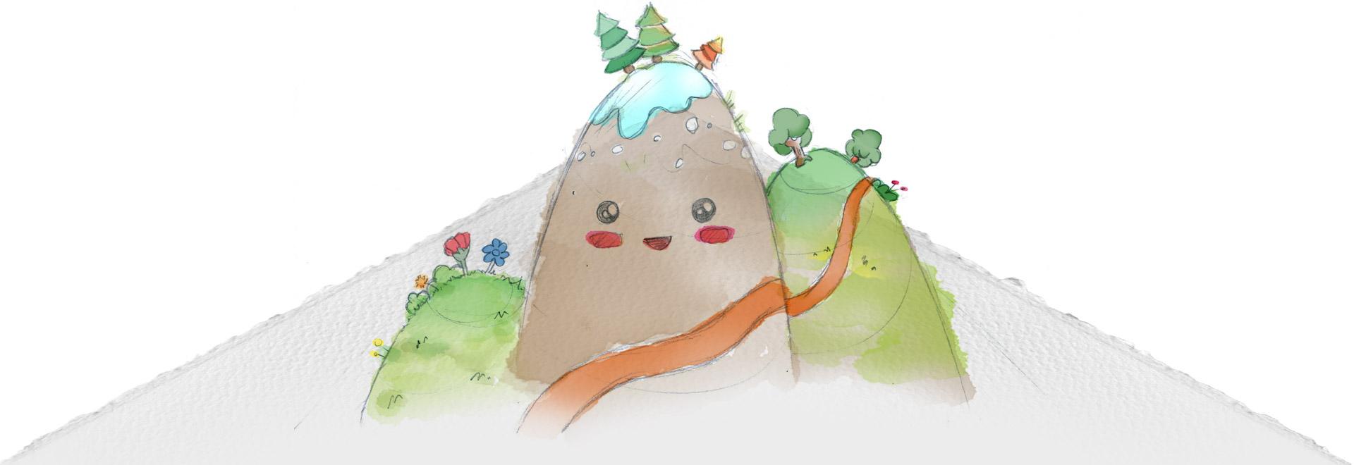 Ilustración de montañas - Centro de Educación Infantil Gibralfaro