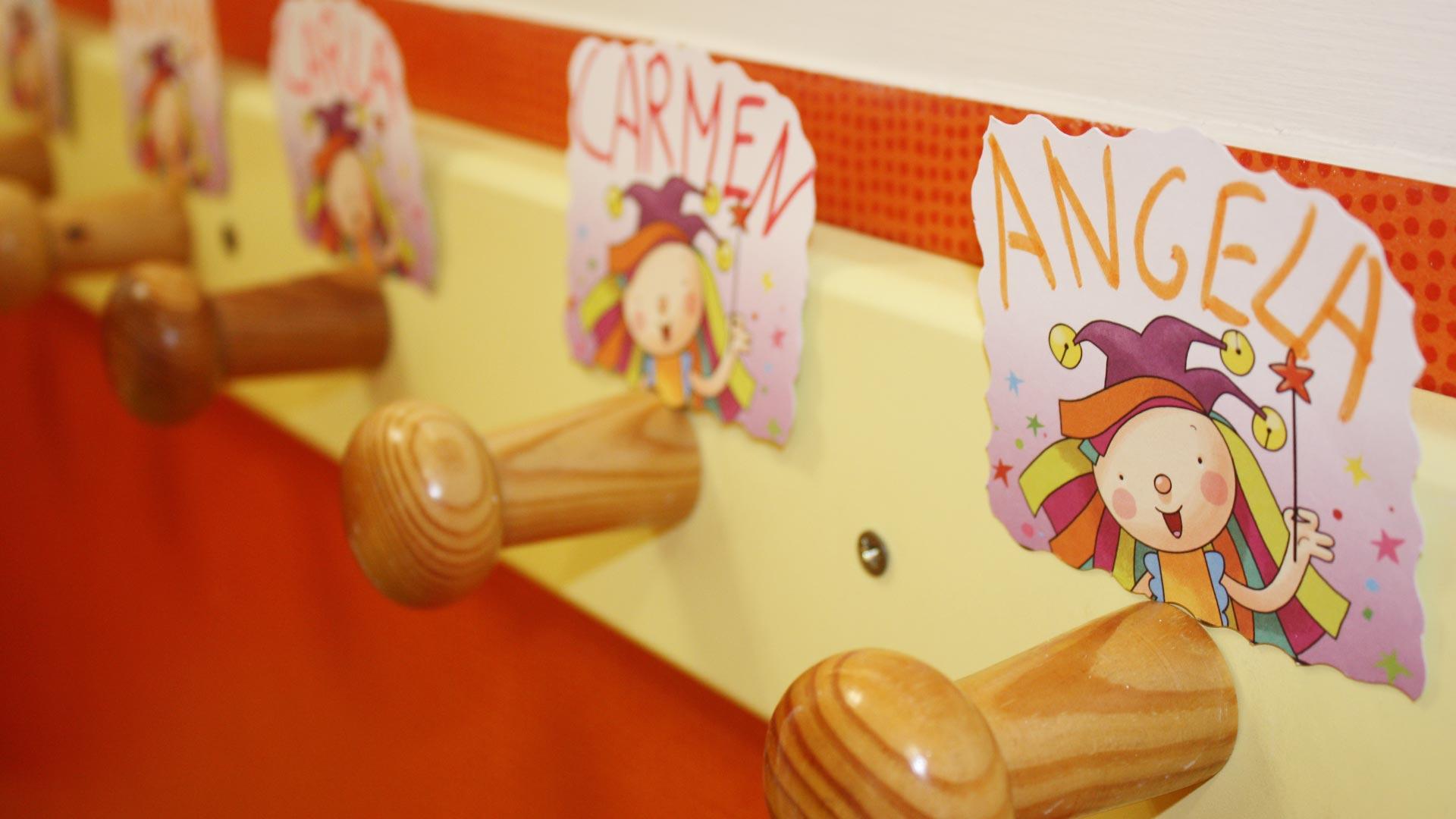 Perchas - Imagen de galería del Centro de Educación Infantil Gibralfaro