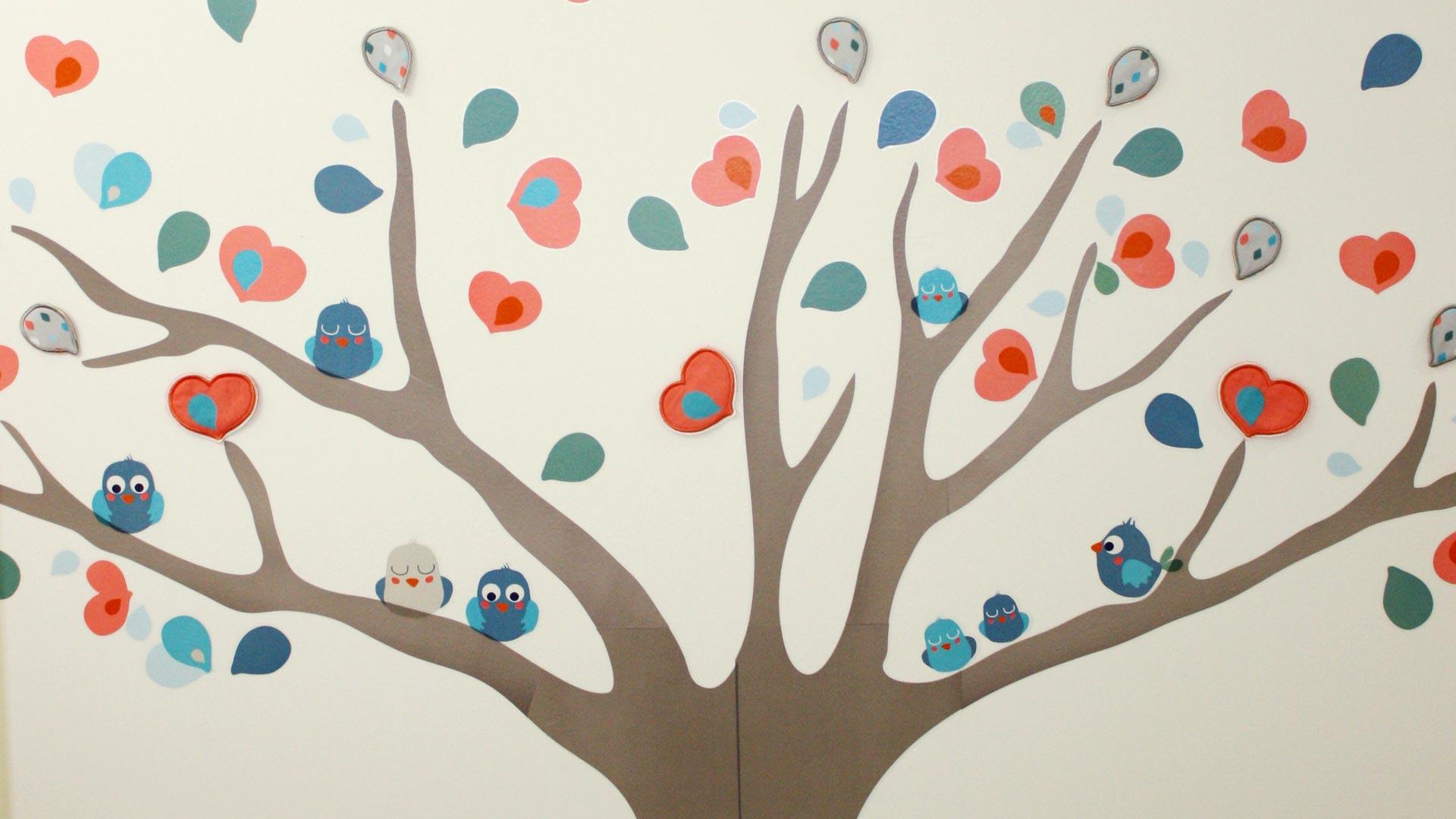 Detalle de dibujo en la pared - Imagen de galería del Centro de Educación Infantil Gibralfaro
